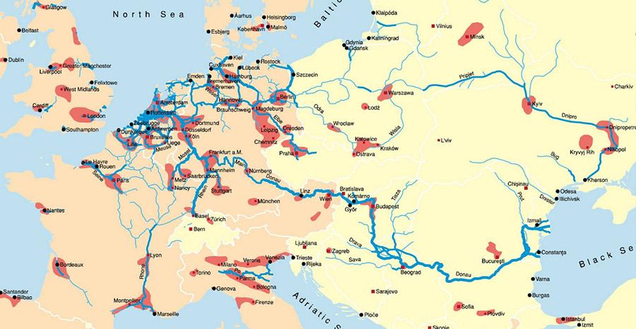 Situation géographique de la péniche