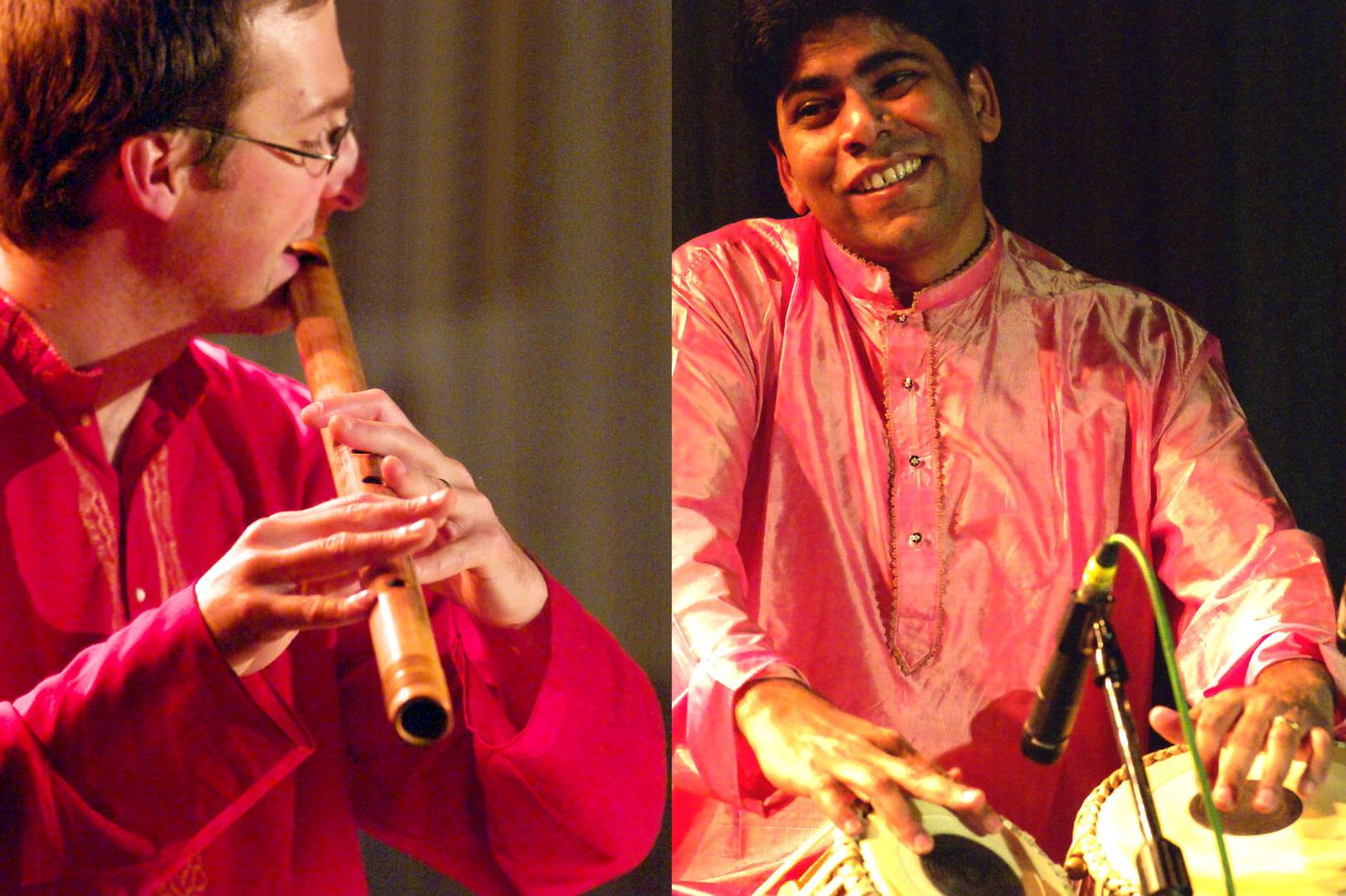 Fabian Beghin et Suman Sarkar présentent un duo de musique indienne