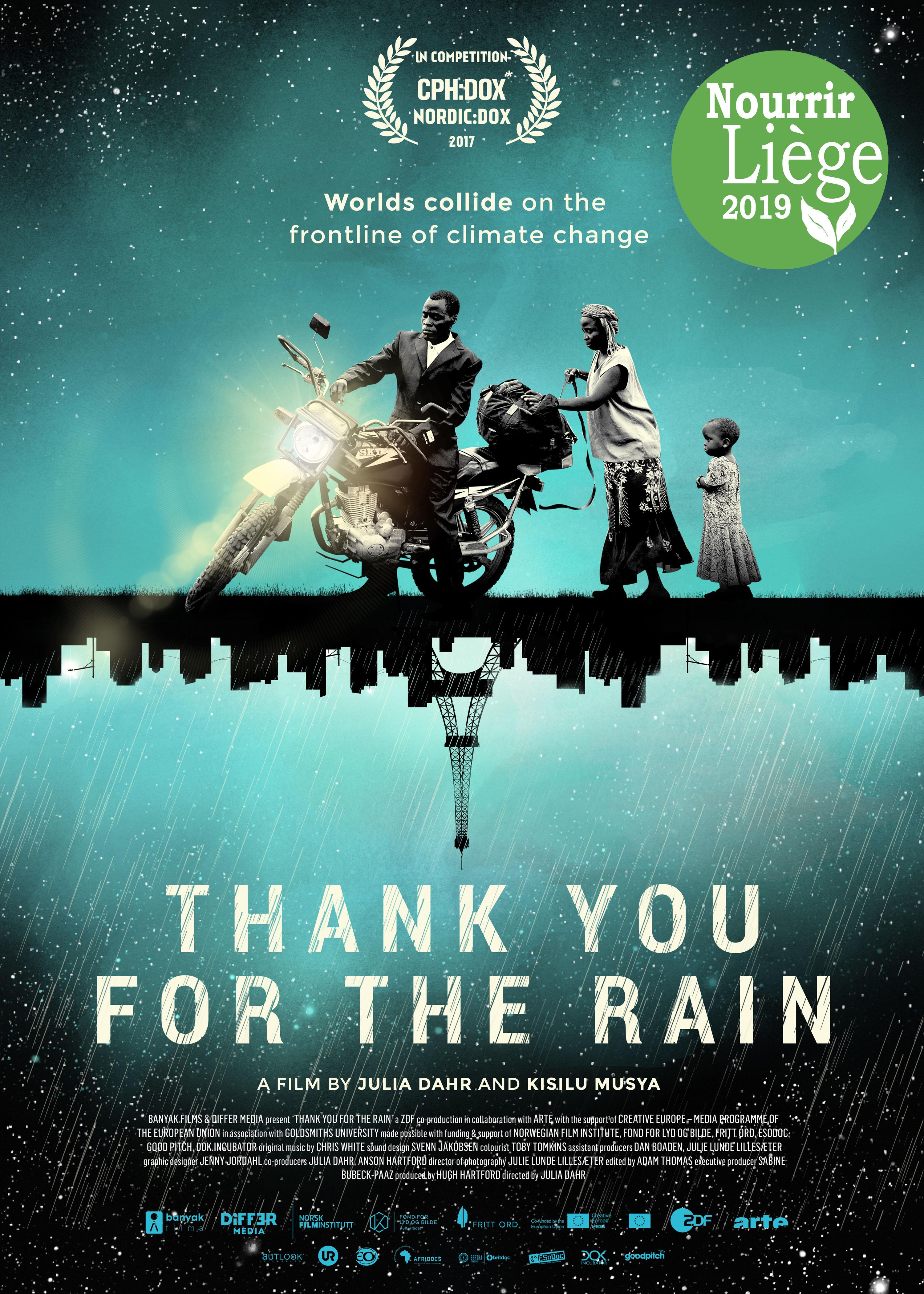 Festival Nourrir Liège 2019: projection «Merci pour la pluie»